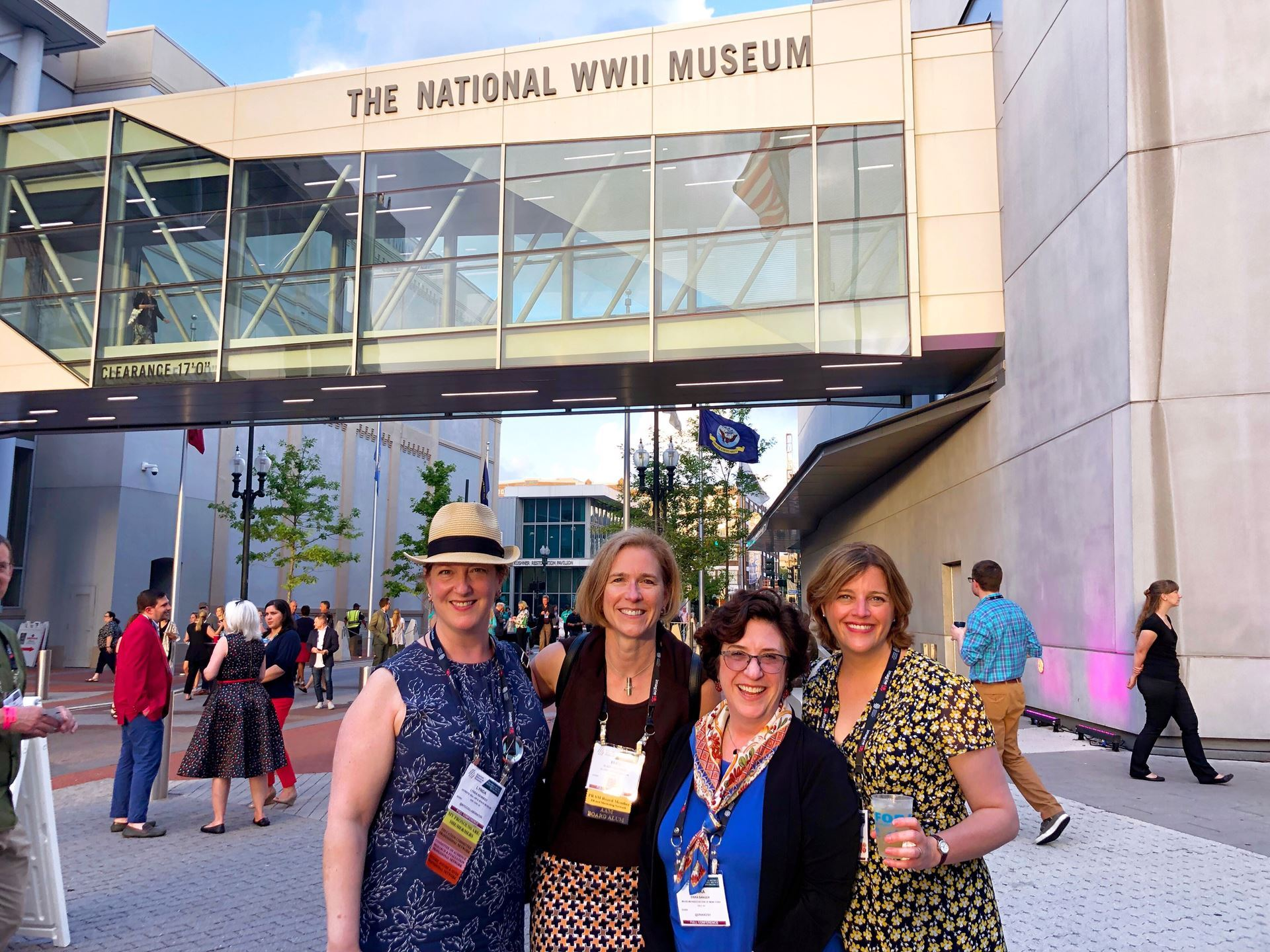 NYS museums meeting up at #AAM2019! Pictured L-R Hillarie Olson (RMSC), Erika Sanger (MANY), Eliza Koslowski (George Eastman Museum), and Lynda Kennedy (The Intrepid Sear, Air & Space Museum)
