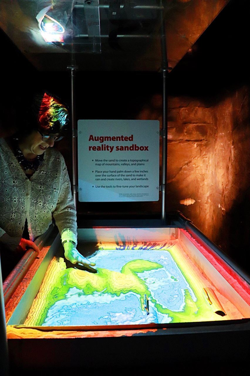 MANY staff had some fun at the @mostsyracuse with this augmented reality sandbox!